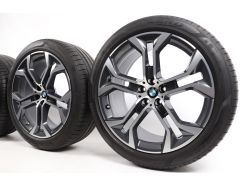 BMW Velgen met Zomerbanden X5 G05 X6 G06 21 Inch Styling 744