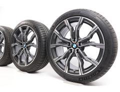 BMW Sommerkompletträder X1 F48 X2 F39 19 Zoll Styling 816 M Doppelspeiche