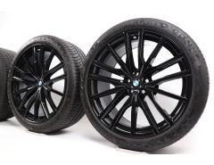 BMW Velgen met Zomerbanden X5 G05 X6 G06 22 Inch Styling 742 M Doppelspeiche