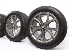 BMW Sommerkompletträder X5 G05 X6 G06 19 Zoll Styling 735 V-Speiche