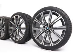 BMW Winterkompletträder X5 G05 X6 G06 22 Zoll Styling 746i V-Speiche