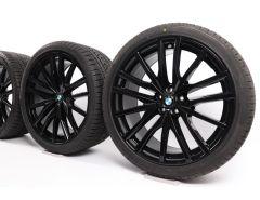 BMW Velgen met Winterbanden X5 G05 X6 G06 22 Inch Styling 742 M Doppelspeiche