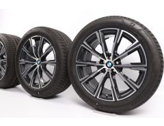 BMW Velgen met Zomerbanden X5 G05 X6 G06 20 Inch Styling 740 M Sternspeiche
