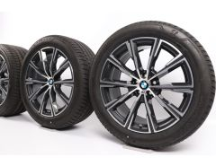 BMW Sommerkompletträder X5 G05 X6 G06 20 Zoll Styling 740 M Sternspeiche