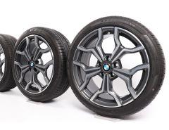 BMW Velgen met Zomerbanden X1 F48 X2 F39 19 Inch Styling 722 Y-Speiche
