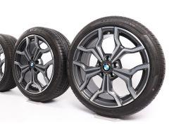 BMW Sommerkompletträder X1 F48 X2 F39 19 Zoll Styling 722 Y-Speiche