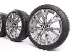 BMW Sommerkompletträder X7 G07 22 Zoll Styling 756 Y-Speiche