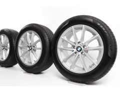 BMW Sommerkompletträder X3 G01 X4 G02 18 Zoll Styling 618 V-Speiche