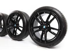 BMW Sommerkompletträder 3er G20 G21 19 Zoll Styling 791 M Doppelspeiche