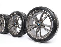 BMW Velgen met Zomerbanden 3 Serie G20 G21 4 Serie G22 G23 19 Inch Styling 792 M Doppelspeiche