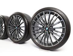 BMW Velgen met Zomerbanden 8 Serie G14 G15 G16 20 Inch Styling 729 M Vielspeiche