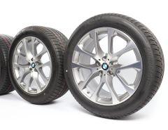 BMW Velgen met Zomerbanden X5 G05 X6 G06 20 Inch Styling 738 V-Speiche