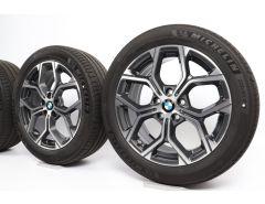BMW Sommerkompletträder X1 F48 X2 F39 18 Zoll Styling 579 Y-Speiche