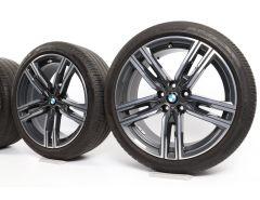 BMW Sommerkompletträder 8er G14 G15 G16 19 Zoll Styling 727 M Doppelspeiche