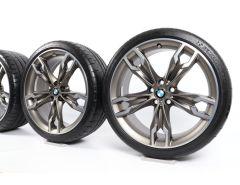 BMW Sommerkompletträder 5er G30 G31 20 Zoll Styling 668 M Doppelspeiche
