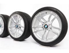 BMW Velgen met Winterbanden M4 F82 F83 M3 F80 18 Inch Styling 640 M Doppelspeiche