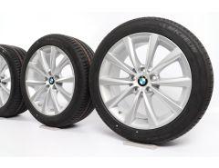 BMW Sommerkompletträder 6er G32 7er G11 G12 18 Zoll Styling 642 V-Speiche
