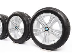 BMW Velgen met Zomerbanden 3 Serie F30 F31 4 Serie F32 F33 F36 17 Inch Styling 392 Doppelspeiche