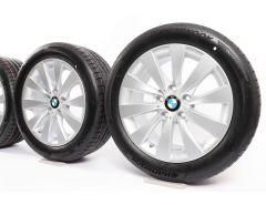 BMW Velgen met Zomerbanden 3 Serie F30 F31 4 Serie F32 F33 F36 17 Inch Styling 413 V-Speiche