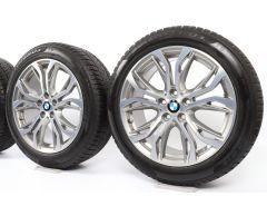 BMW Velgen met Winterbanden X1 F48 X2 F39 18 Inch Styling 566 Y-spaak
