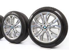 BMW Velgen met Winterbanden X1 F48 X2 F39 18 Inch Styling 566 Y-Speiche