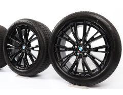 BMW Winterkompletträder 3er G20 G21 4er G22 G23 18 Zoll Styling 796 M Doppelspeiche