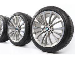 BMW Winterkompletträder 5er G30 G31 19 Zoll Styling 663 W-Speiche