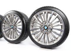 BMW Velgen met Zomerbanden 3 Serie F30 F31 4 Serie F32 F33 F36 19 Inch Styling 708 Multi-spaak