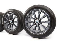 BMW Velgen met Winterbanden X5 G05 X6 G06 20 Inch Styling 740 M Sternspeiche