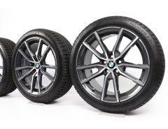 BMW Velgen met Winterbanden 3 Serie G20 G21 18 Inch Styling 780 V-Speiche