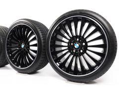 BMW Sommerkompletträder 5er F10 F11 6er F06 F12 F13 20 Zoll Styling 410 Vielspeiche