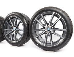 BMW Winterkompletträder 3er G20 G21 18 Zoll Styling 780 V-Speiche