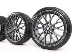 BMW Sommerkompletträder 1er F20 F21 2er F22 F23 19 Zoll Styling 405 M Doppelspeiche