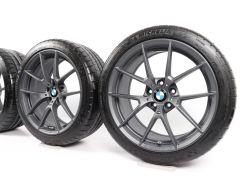 BMW Velgen met Zomerbanden M4 F82 F83 M3 F80 19 Inch 20 Inch Styling 763 M Y-spaak