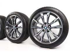 BMW Velgen met Winterbanden X3 G01 X4 G02 20 Inch Styling 699 M Doppelspeiche