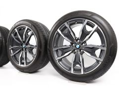BMW Velgen met Zomerbanden X3 G01 X4 G02 20 Inch Styling 787 M Dubbelspaak