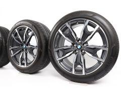 BMW Sommerkompletträder X3 G01 X4 G02 20 Zoll Styling 787 M Doppelspeiche