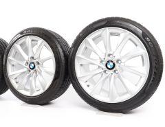 BMW Winterkompletträder 3er F30 F31 4er F32 F33 F36 18 Zoll Styling 415 Turbinenstyling