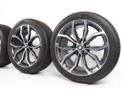 BMW Winterkompletträder X3 G01 X4 G02 20 Zoll Styling 695 Y-Speiche