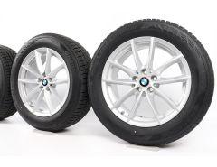 BMW Winterkompletträder X3 G01 X4 G02 18 Zoll Styling 618 V-Speiche