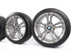 BMW Sommerkompletträder 3er F30 F31 4er F32 F33 F36 18 Zoll Styling 397 Doppelspeiche