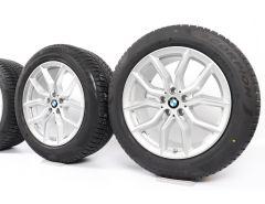 BMW Velgen met Winterbanden X5 G05 X6 G06 19 Inch Styling 734 V-Speiche