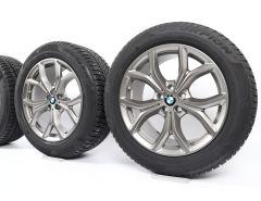 BMW Velgen met Winterbanden X5 G05 X6 G06 19 Inch Styling 735 V-Speiche