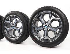 BMW Velgen met Winterbanden X1 F48 X2 F39 18 Inch Styling 569 Y-spaak