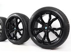 BMW Velgen met Winterbanden X3M F97 X4M F98 21 Inch Styling 765 M V-Speiche