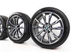 BMW Winterkompletträder X3 G01 20 Zoll Styling 699 M Doppelspeiche