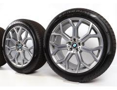 BMW Winterkompletträder X7 G07 21 Zoll Styling 753 Y-Speiche