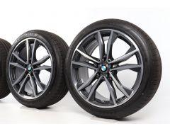 BMW Sommerkompletträder X1 F48 X2 F39 19 Zoll Styling 715 M Doppelspeiche