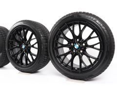 BMW Winterkompletträder 3er F30 F31 4er F32 F33 F36 18 Zoll Styling 405 M Doppelspeiche