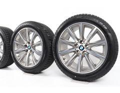 BMW Velgen met Winterbanden 5 Serie G30 G31 18 Inch Styling 684 V-Speiche
